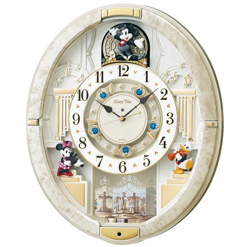 [セイコークロック] ディズニー メロディ電波掛時計FW580Wの商品画像