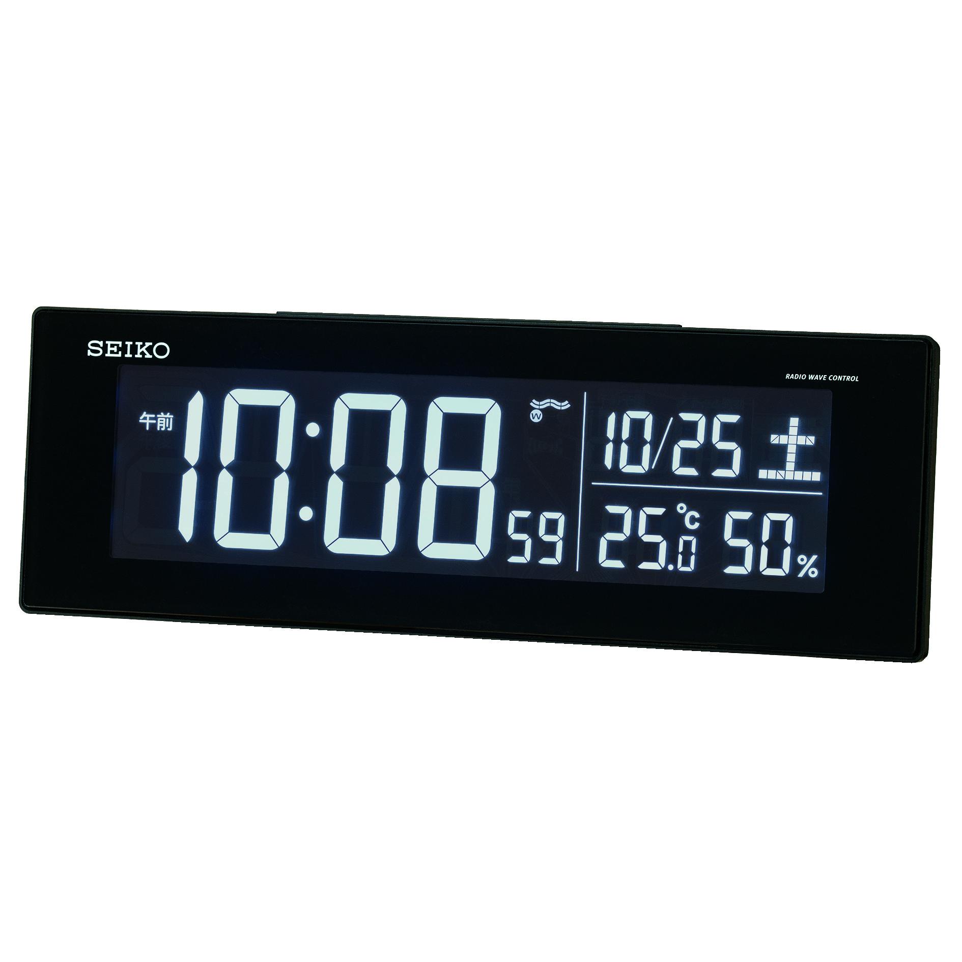 [セイコークロック] デジタルチェンジカラー電波クロック DL305Kの商品画像