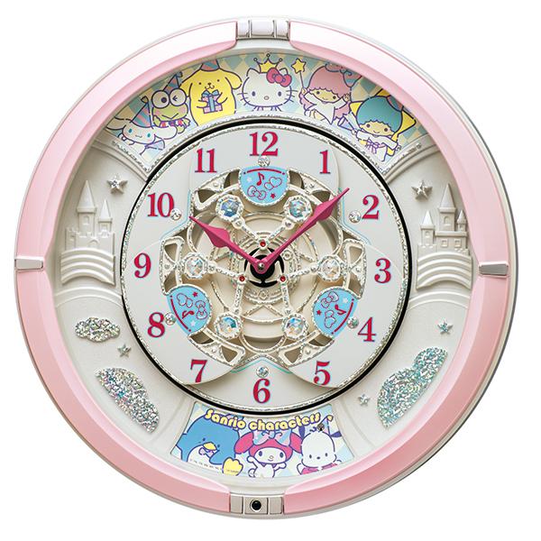[セイコークロック] サンリオ からくり掛時計CQ222Pの商品画像