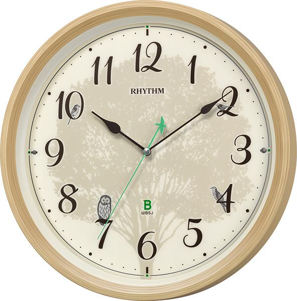 [リズム時計]リズム時計 四季の野鳥時報電波掛時計8MN409SR06の商品画像