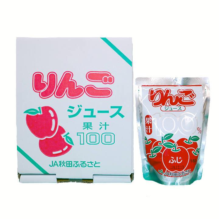 秋田【JA秋田ふるさと】果汁100% りんごジュース 箱の商品画像