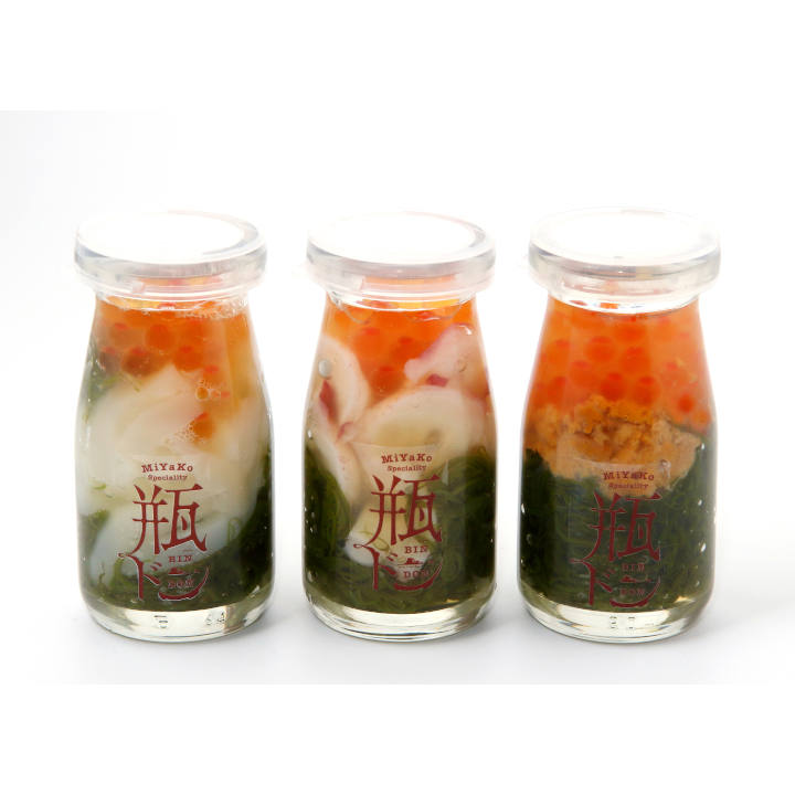 【送料込】[岩手]宮古の瓶ドン 3種土産セットイカ・タコ・ウニの商品画像