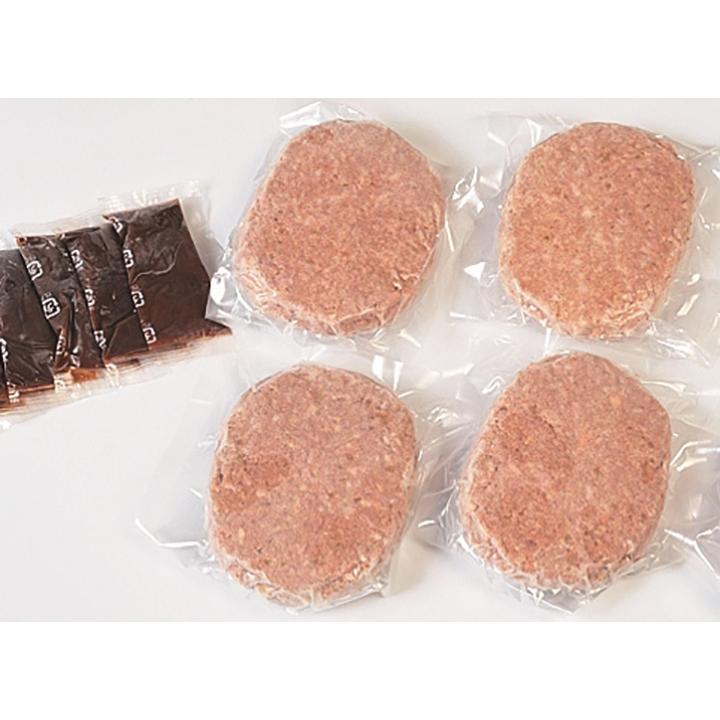 岩手[(有)前沢牛オガタ]前沢牛ハンバーグ 4個入【送料込】の商品画像