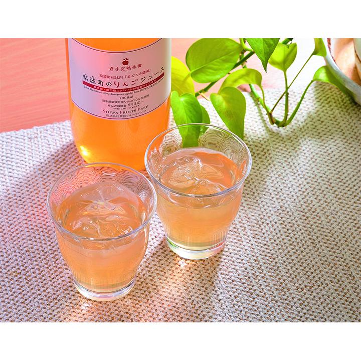 [㈱紫波フルーツパーク]無添加 無加糖ストレートりんごジュース 2本入【送料込】の商品画像
