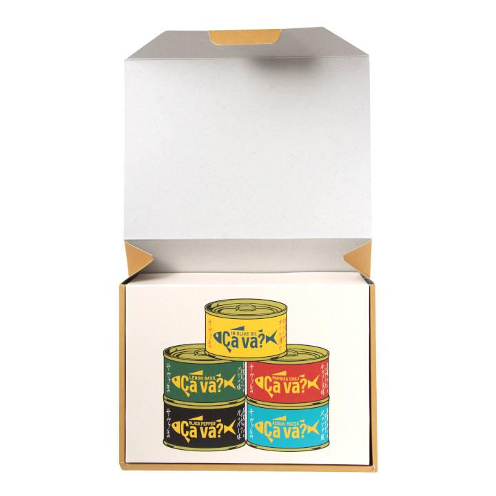 [岩手]サヴァ缶 5種類セット 国産サバのオリーブオイル漬け、レモンバジル味、パプリカチリ味、アクアパッツア風、ブラックペッパーの商品画像 (4)