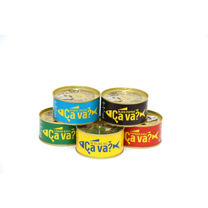 [岩手]サヴァ缶 5種類セット 国産サバのオリーブオイル漬け、レモンバジル味、パプリカチリ味、アクアパッツア風、ブラックペッパーの商品画像 (6)