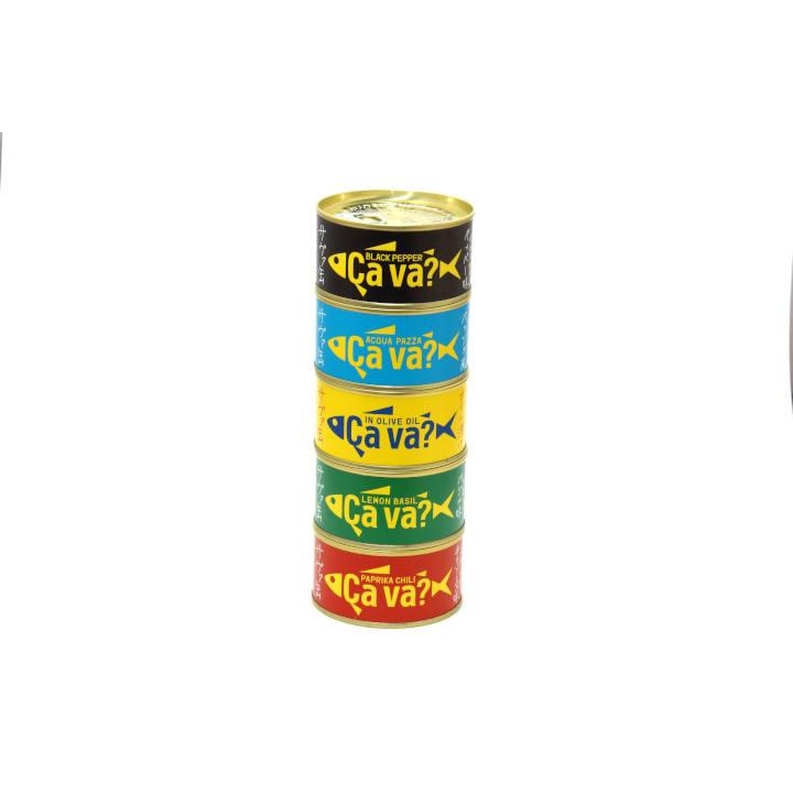 岩手【サヴァ缶】5種類セット 国産サバのオリーブオイル漬け、レモンバジル味、パプリカチリ味、アクアパッツア風、ブラックペッパーの商品画像 (4)