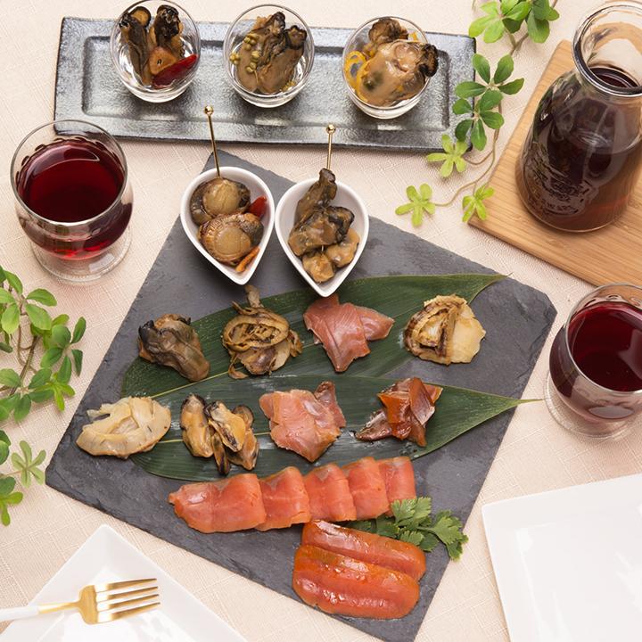 岩手[ひょうたん島苫屋]牡蠣燻製にんにくオイル漬け+9種セットの商品画像