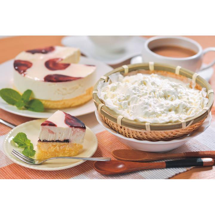 【送料込】[岩手]㈲沢菊山ぶどうWチーズケーキ&ふわっときららの商品画像