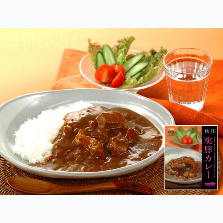 [秋田]秋田味商 比内地鶏・桃豚カレーセットの商品画像